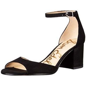 Sam Edelman black block heel leather Susie